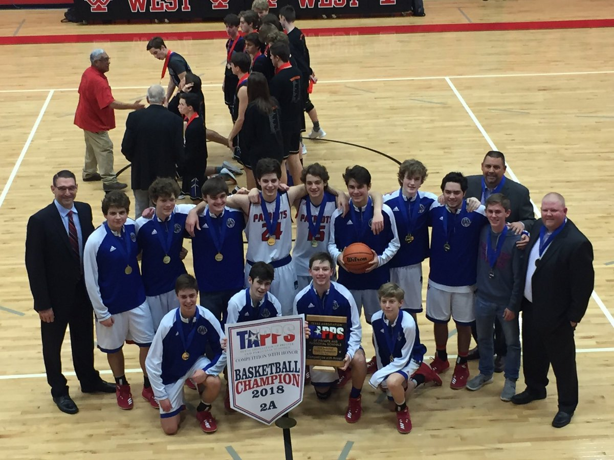 All Saints Boys win TAPPS 2A State Championship!  62-41 over Conroe Covenant Christian. All Saints finishes 30-6 on the year. Go Pats!  @pchristy11 @LoneStarVarsity @AJ_MikeGraham @AllSaintsPride @klbk_sports @fox34 @PaulTubbs_KLBK @806hssc