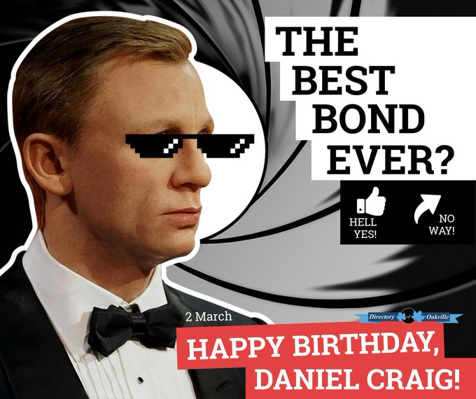 HAPPY BIRTHDAY, DANIEL CRAIG! 007 :-)