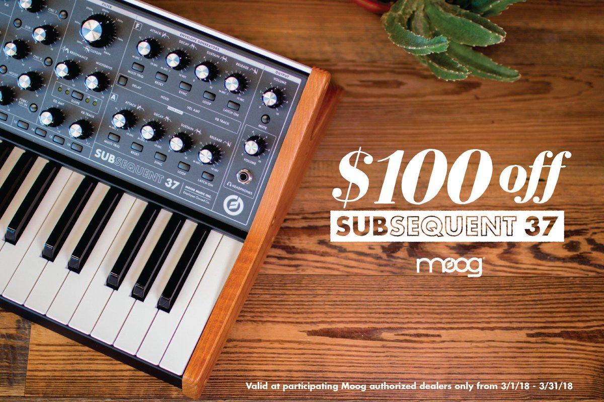 Moog rebate