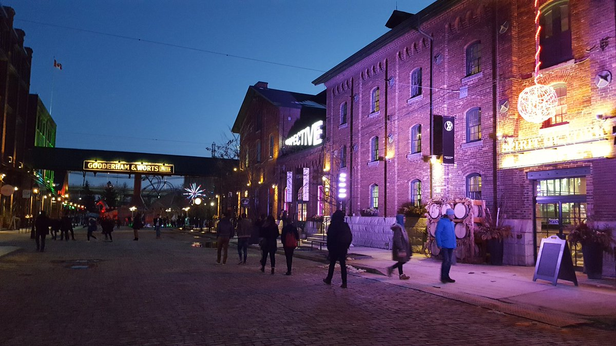 Entrance to the Distillery District Light Fest, Toronto, Canada