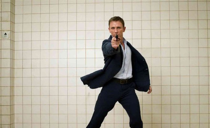 Happy 50th birthday to Daniel Craig! Bond 25 is expected to come out Nov. 8th 2019-