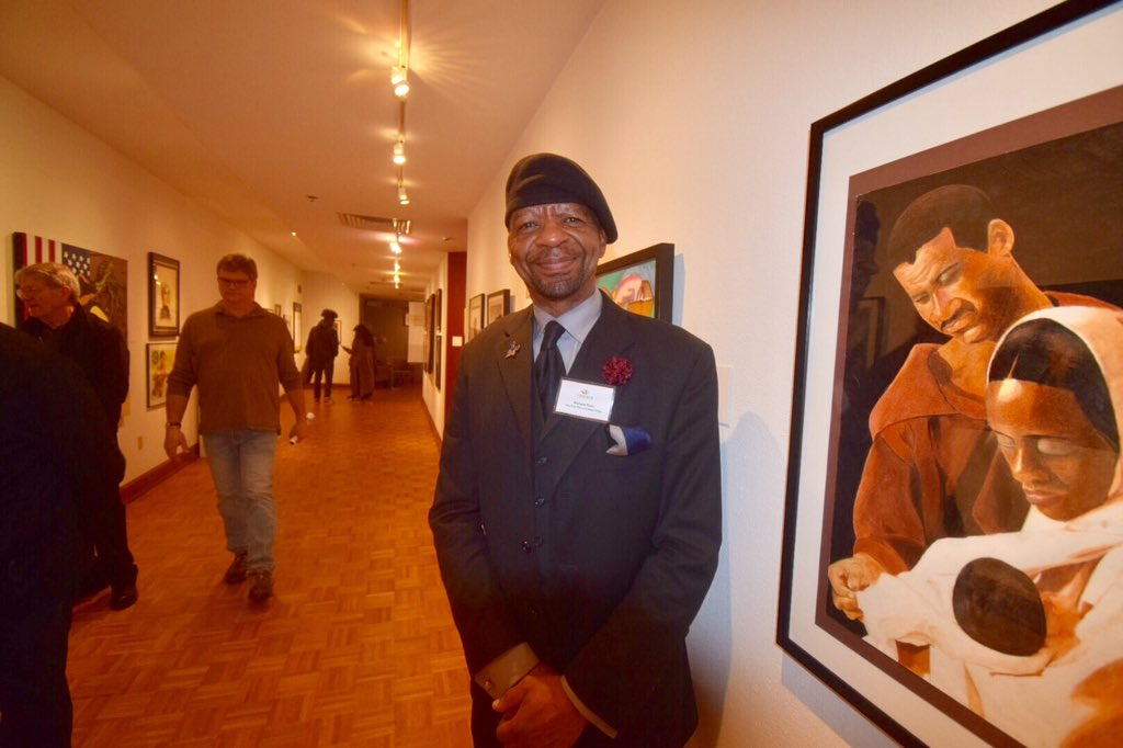 What an amazing opening reception at @sheldonart tonight featuring CRCP student art! Mr. Hunt says it&#39;s &quot;Some of the best student artwork I&#39;ve seen in 46 years of teaching.&quot; Exhibition open through April. Don&#39;t miss it! #lionpride #crcp <br>http://pic.twitter.com/ZBGxp3gCME