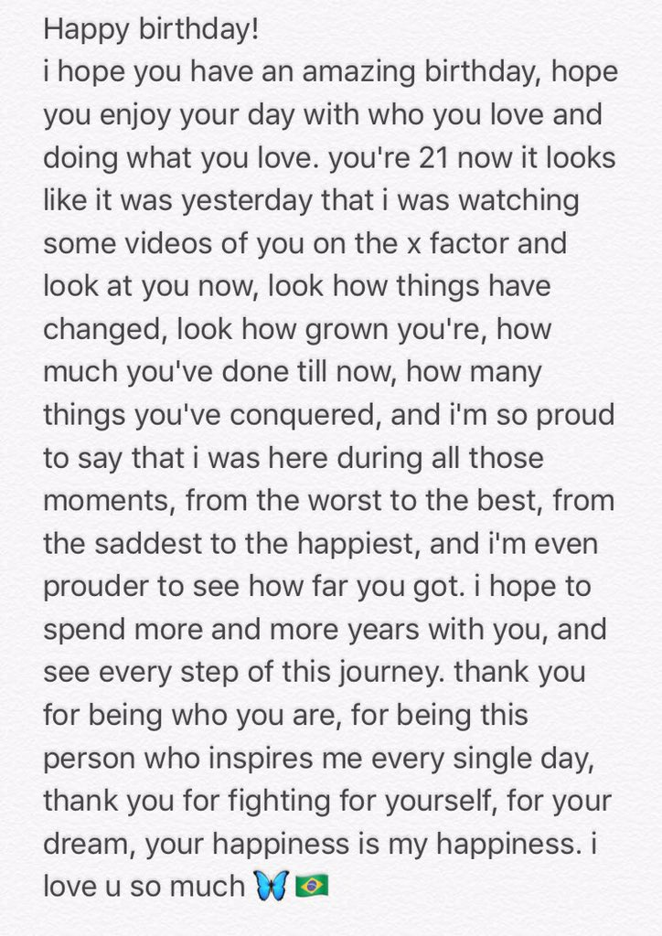 Happy birthday! i wrote something for you. te amo