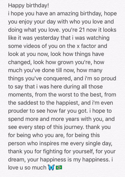 Happy birthday! i wrote something for you. te amo