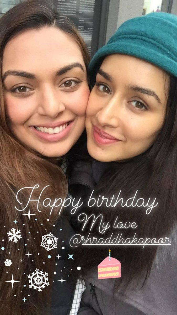 Shraddha Kapoor Daily On Twitter Fazaashroffgargs Birthday