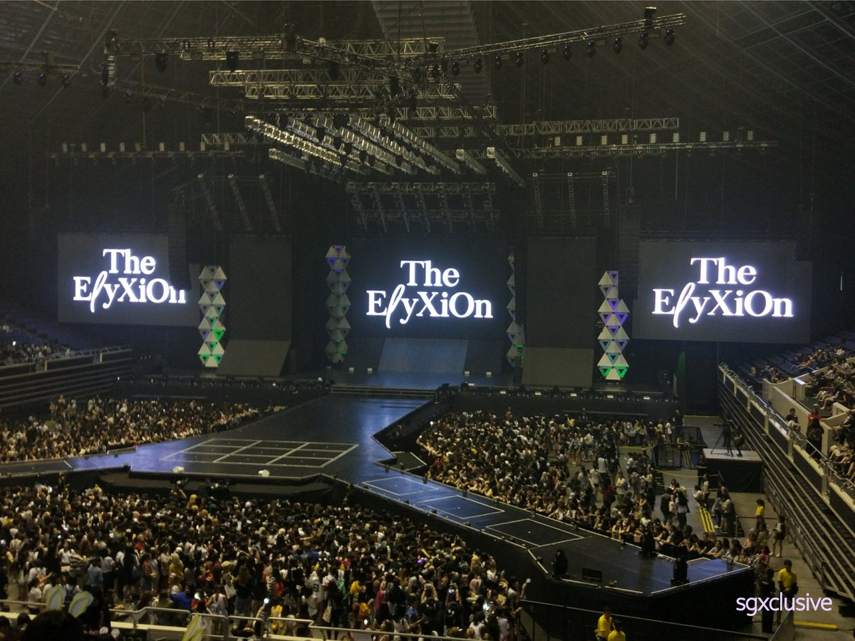 [#TheElyXiOninSG] #EXO's Singapore stop for The ElyXiOn is about to begin! Exo-Ls are yall ready? #엑소