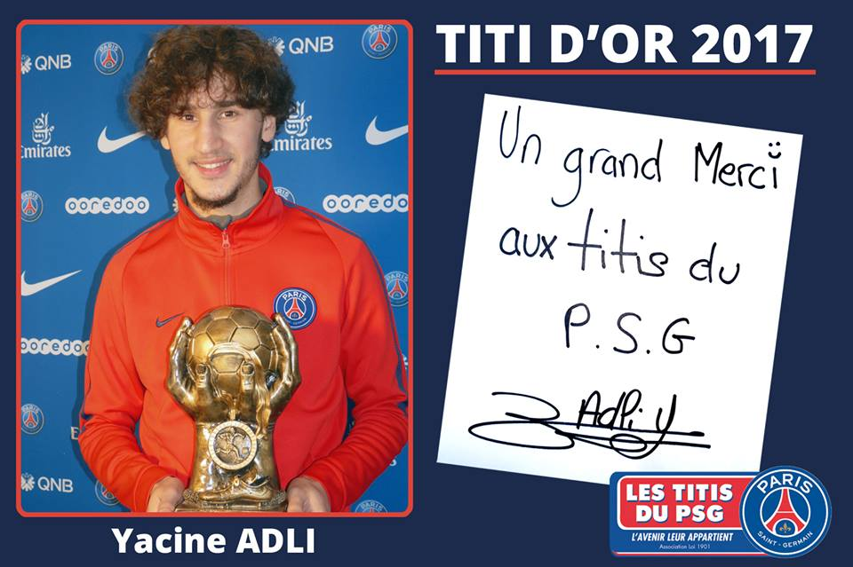 "TitisduPSG on Twitter: ""[Titi d'Or 2017] Yacine #Adli élu Meilleur ..."