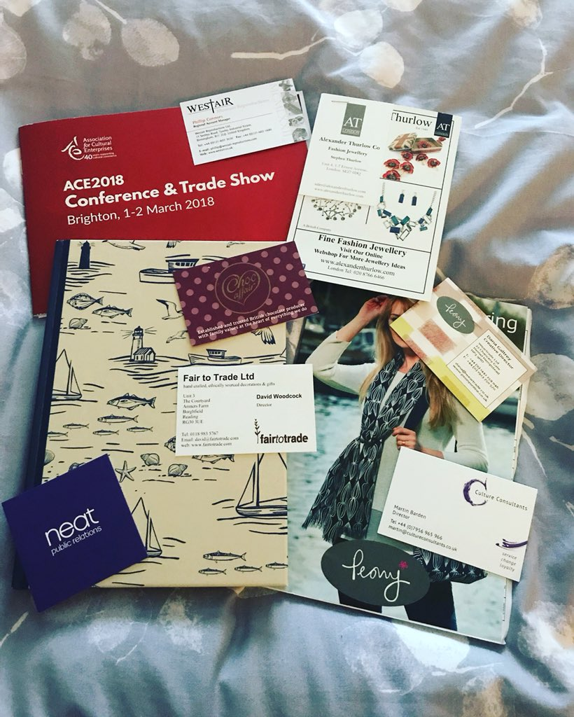 I had an amazing time at my 1st @ACEnterprises conference! I met some amazing delegates, heard great talks, have a notebook full of inspiration & made some fab contacts to help me along my retail journey! #ACE2018 #niftynetworking #excellentexhibitors #sizzlingseminars https://t.co/pDI8M6EWil