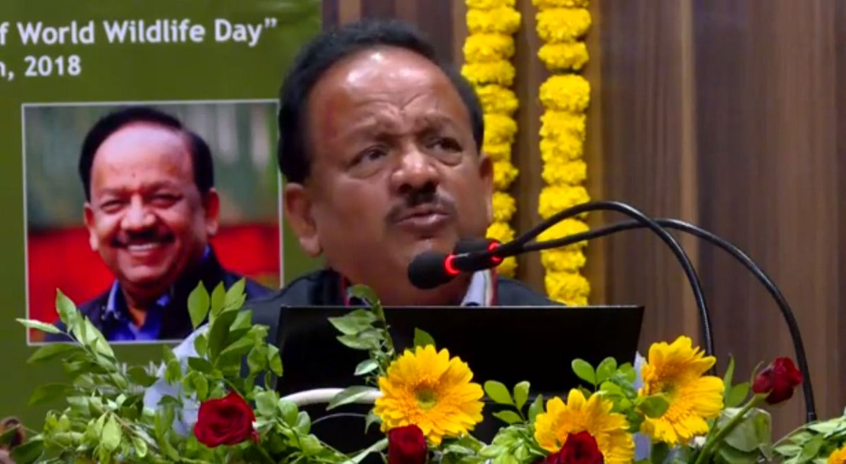 Gujarat has been kanjoos in giving lions, barring one Lion it has given in the form of Narendra Modi: Harshvardhan at Sasan Gir