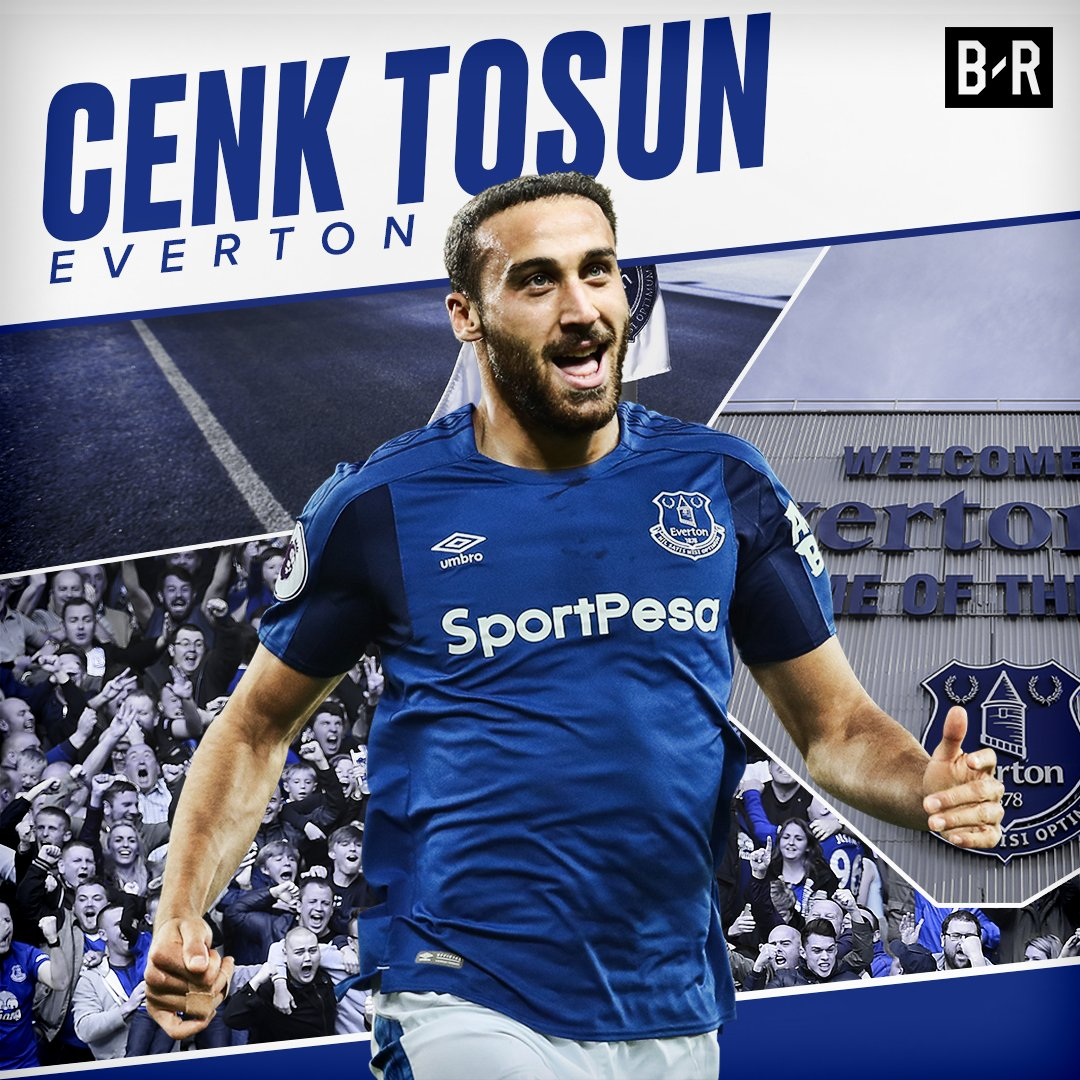 Cenk Tosun has scored his first Premier League goal!