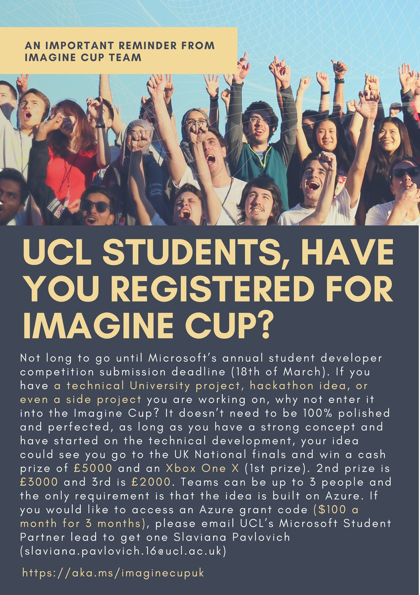 ucl microsoft student partners on twitter not long to go until