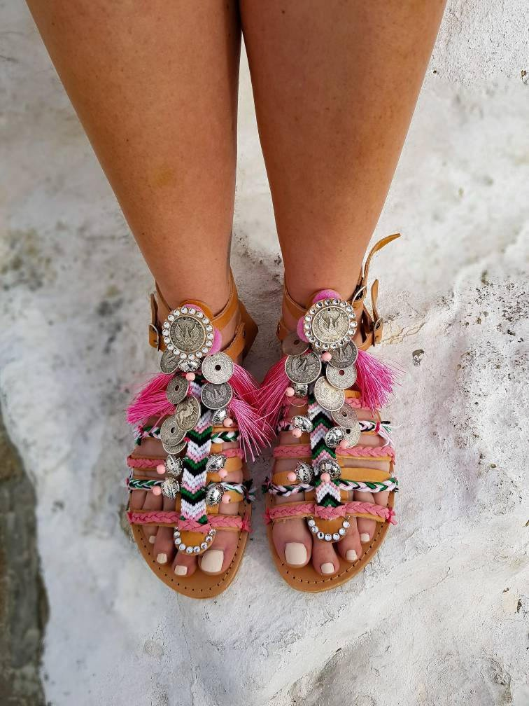 86b3b501d DHL FREE Greek sandals gladiator sandals strappy sandals luxury sandals crystals  sandals boho sandals ethnic sandals Handmade women shoes  clothing  shoes  ...