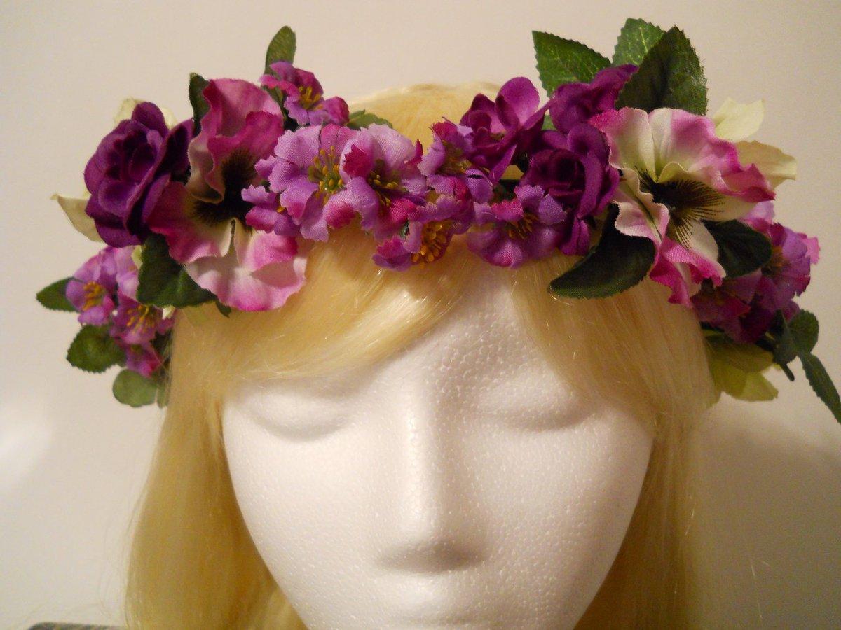 Michele On Twitter Flower Crown Purple Head Wreath Mardi Gras