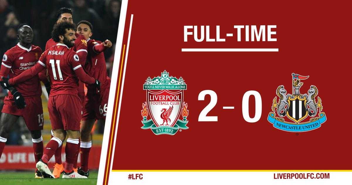 Chấm điểm kết quả Liverpool 2-0 Newcastle United