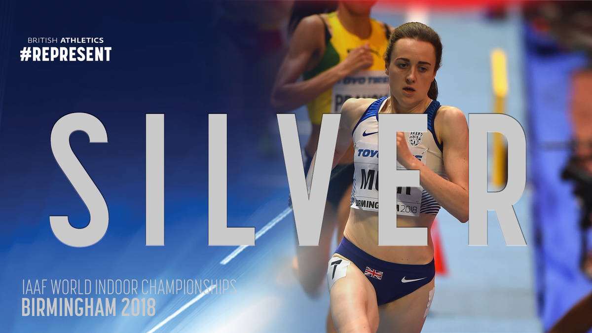 She's done it again! 1500m SILVER @lauramuiruns #REPRESENT   👏👏🙌🙌🇬🇧🇬🇧