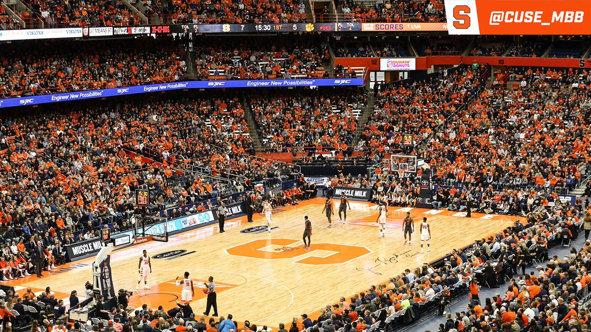 Syracuse Basketball På Twitter Today S Carrier Dome