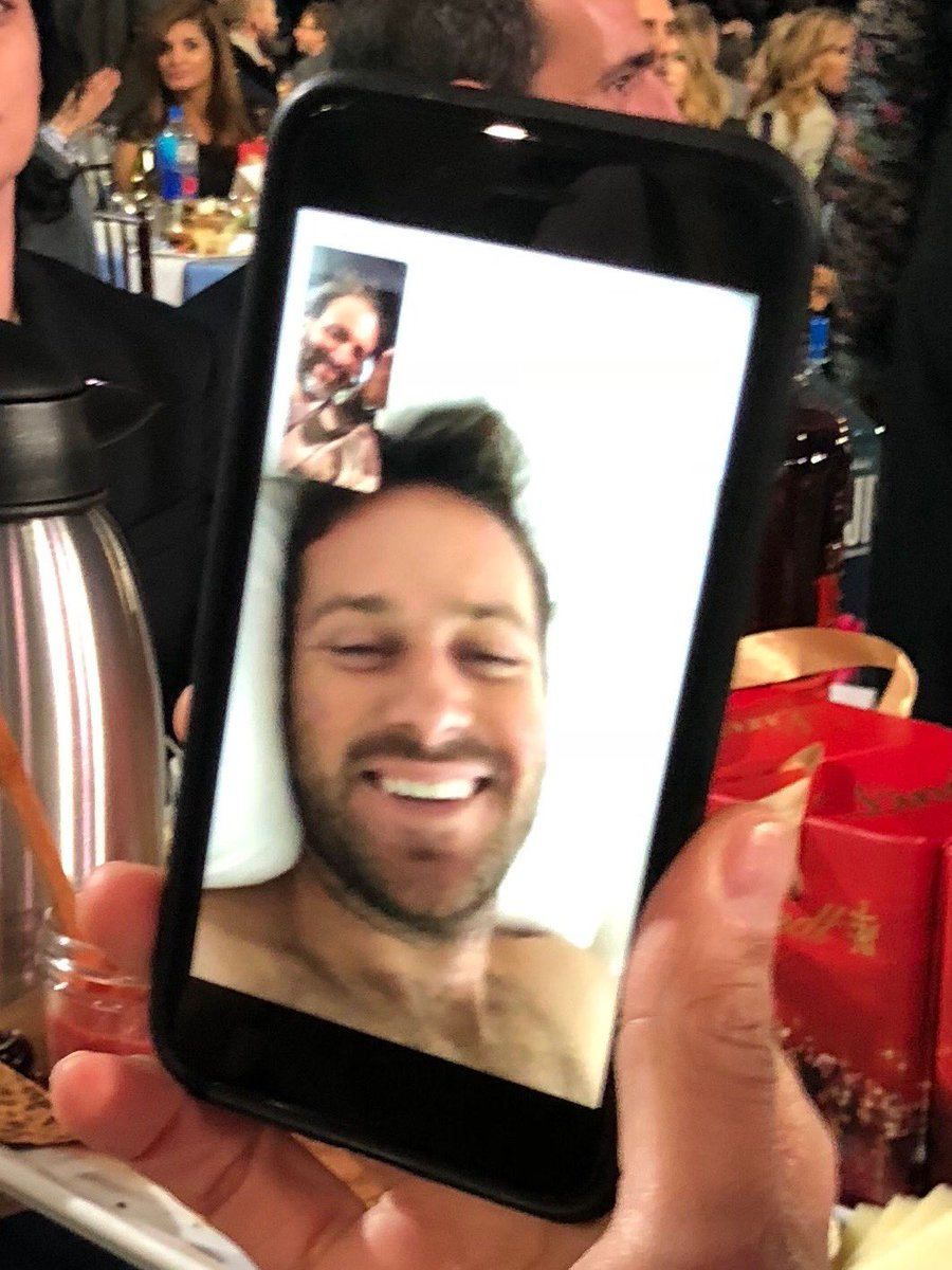 @armiehammer, at home sick in bed, checking in with us here at Indie Spirit Awards. Miss you, buddy, and get better before tomorrow night!
