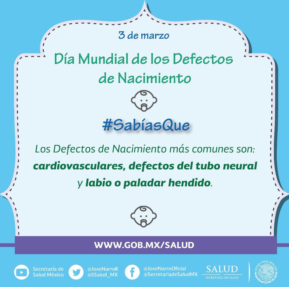 Salud México A Twitter Estediaquierodecirte Cuáles Son Los Defectos De Nacimiento Más Comunes Díamundialdelosdefectosdenacimiento