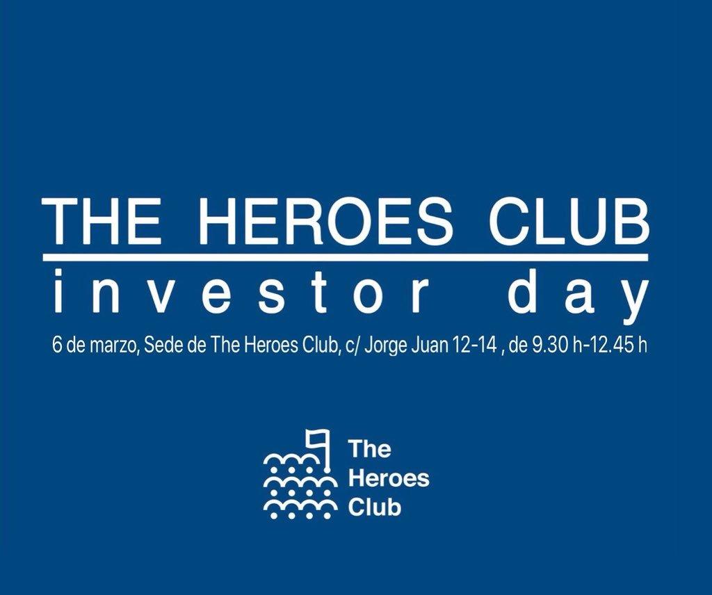 #InvestorDay #SectorBiosanitario con la participación de #CrowdlnTheCloud Fittingpup, #Healthsens y Amadix de la mano de @zarpamos_com y @the_heroes_club https://t.co/1bCMrp9pB0 #InvertirenSalud #eHealth, Apúntate: b.l.aranguena@theheroesclub.net Martes 6 de Marzo. https://t.co/IX9oZKJ49q