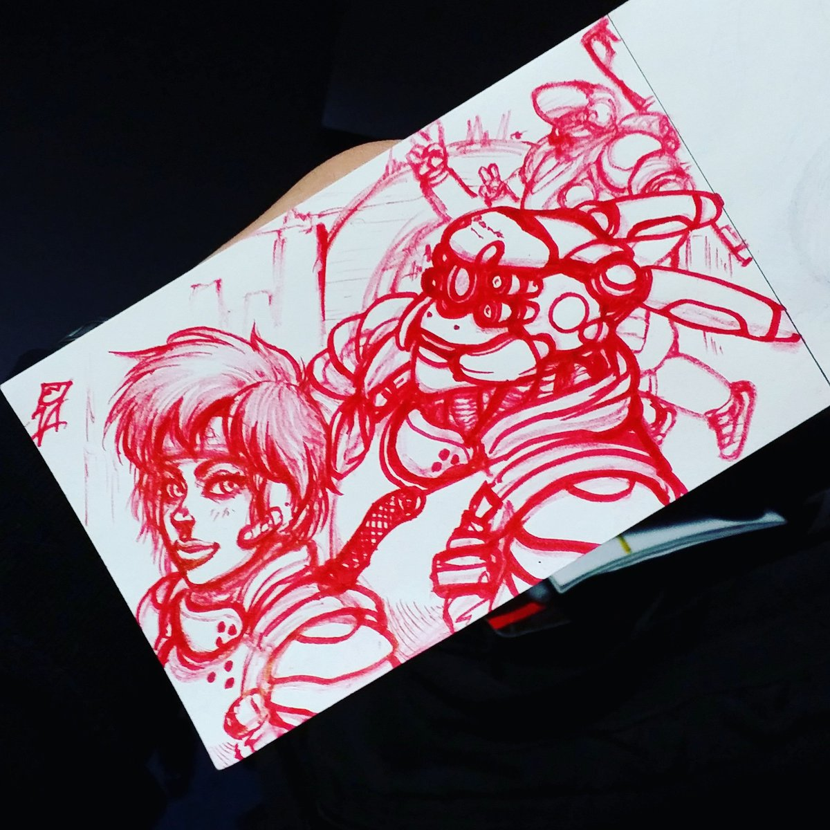 Eric L Vargas Commission S Closed On Twitter I Really Am Remiss Not Doing Any Appleseed Fanart Until Now It Was One Of The First Manga Series I Ever Owned Needless To Say