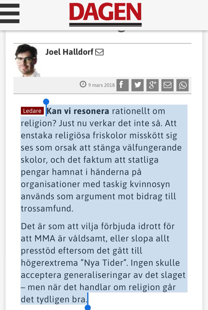 Stark text av @joelsh