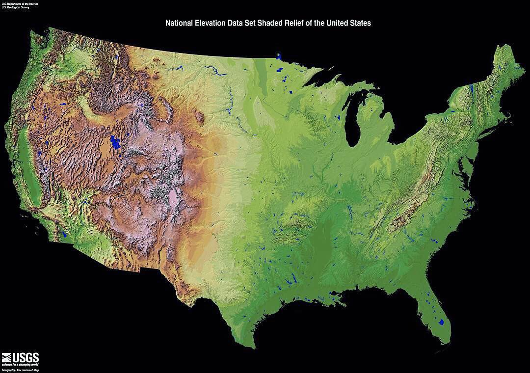 MapScaping on Twitter The American National Elevation Data Set
