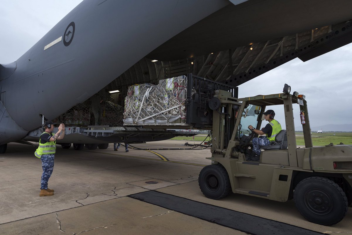 #YourADF is assisting in #PNG & #Qld delivering aid & supplies where they're needed
