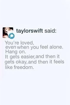 always remember taylor is cheering you o...