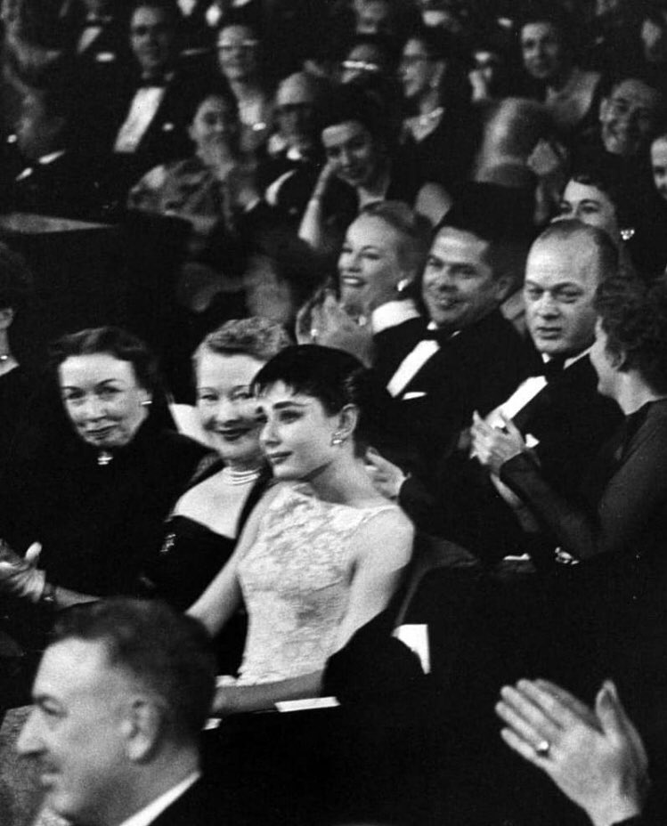 Image result for audrey hepburn first oscar