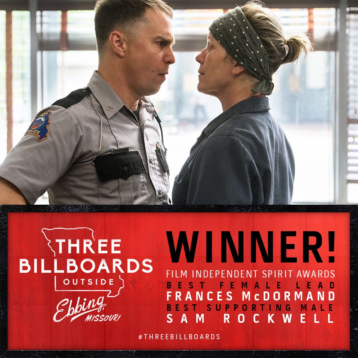 Blueprint pictures blueprintpics twitter congratulations to threebillboards on its 2 wins at the filmindependent spiritawards including best female lead frances mcdormand and best male lead sam malvernweather