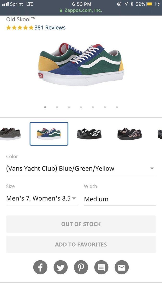 Vans Old Taille Du Yacht Club Skool 6 YX9USIF64J