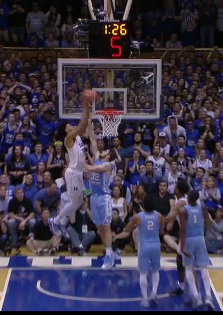 Marvin Bagley put Luke Maye on a POSTER. #dukembb #marvinbagley #lukemaye #DukeVsUNC