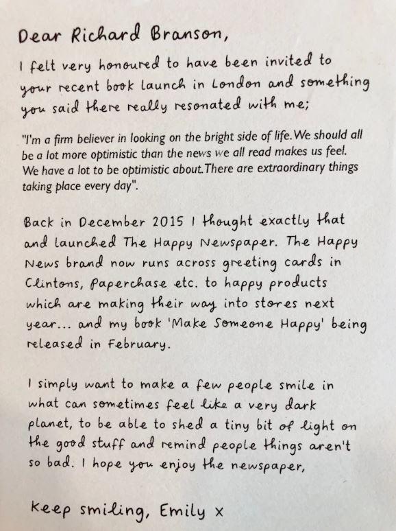 Richard Branson On Twitter Write A Little Positive Note For