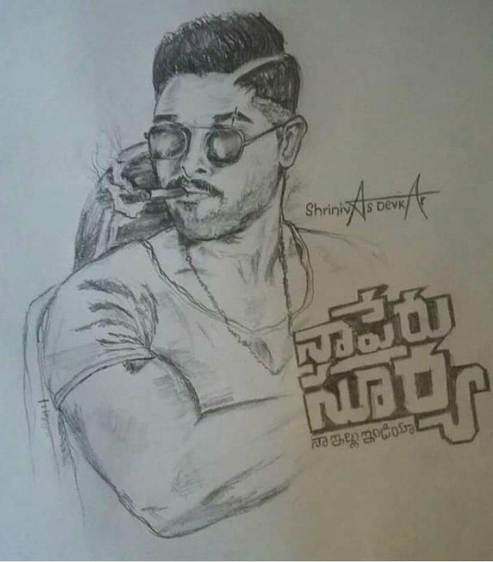 Allu Arjun Fans Ikkada On Twitter Nsniposterimpact Super Drawing For Banny