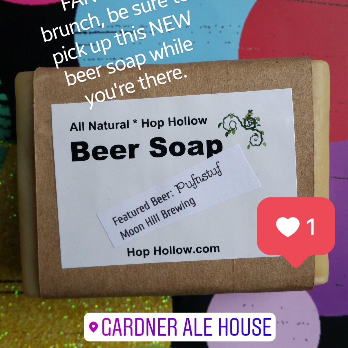 Gardner Ale House has a great Sunday morning brunch ! Pick up the newest big, chunky, citrusy beer soap bar while you're there  : ) #SundayMorning #sundaybrunch #Gardner #beerfans #beersoap #beerlover #localfavorite #hoppymagic #StPatricksDay #