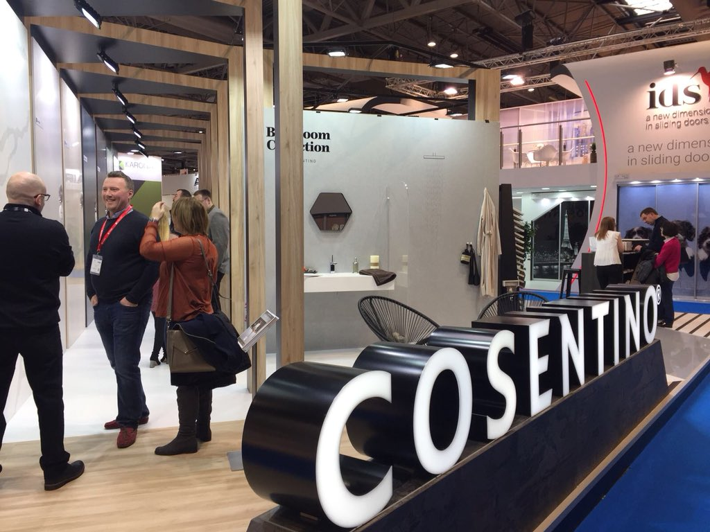And we're off! So pleased to be showing visitors to @kbb2018 all our latest colours and products. Come and join us for some hospitality and see the stunning materials on show! Hall 18, M90