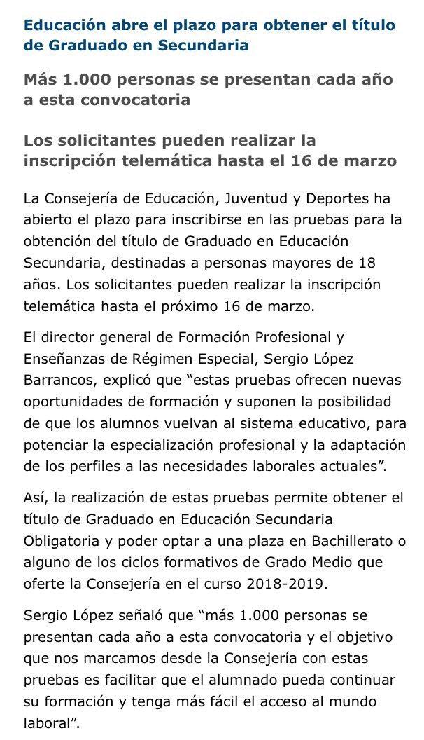 Educarm On Twitter Abierto El Plazo Para Obtener El
