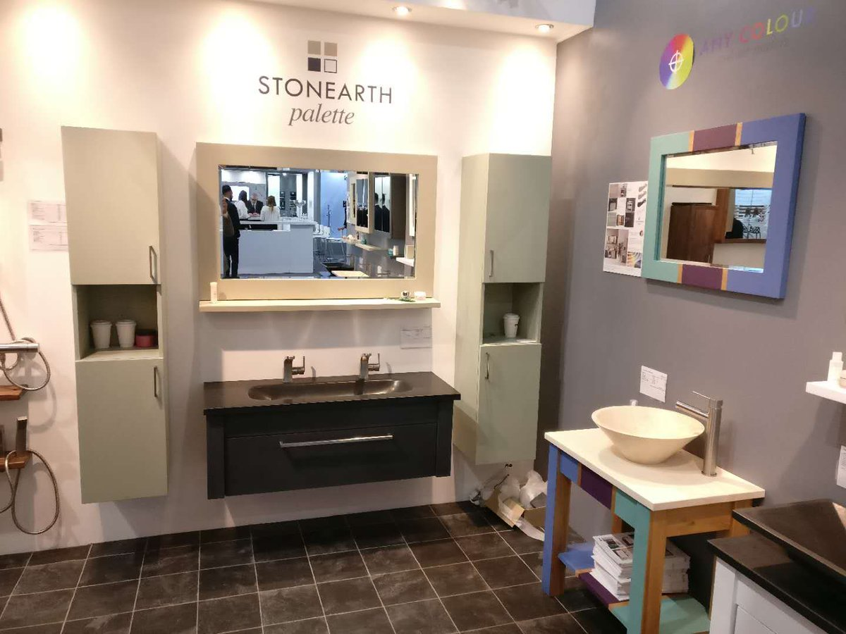 New Products launch @kbblive - Be the firsts to see the ALL new Stonearth Palette painted range of solid oak bathroom cabinets at #nec We are waiting for you at stand F80 #paintedwood #naturalbathrooms