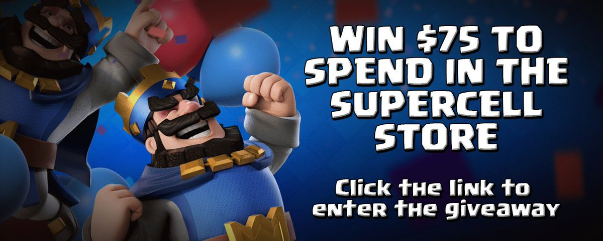 When is the best time to win a supercell shop code? 🤔 When it's 20% on clash royale items! 🎁🙌👉 Retweet + Follow👉 Enter: https://goo.gl/SBNgx3