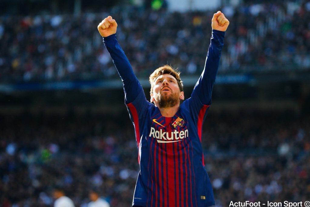 6️⃣0️⃣0️⃣ : Lionel Messi a inscrit le 600e but de sa carrière.  Barcelone : 539 ⚽️ Argentine : 61 ⚽️