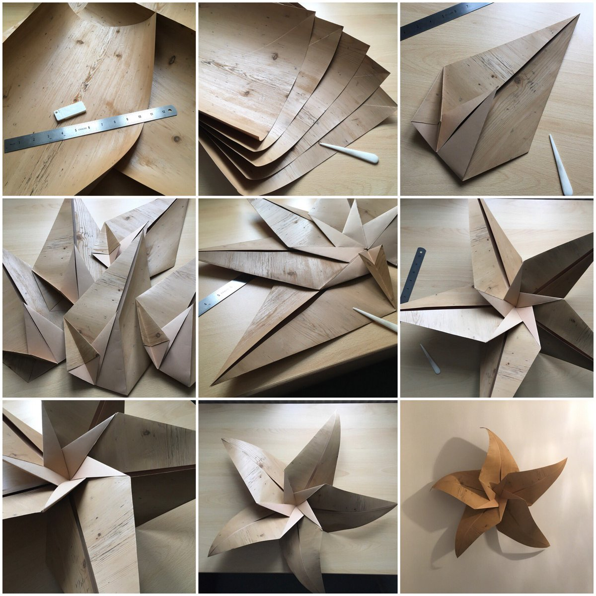 Clarissa Grandi On Twitter Folding Stages For A Large Wood Effect