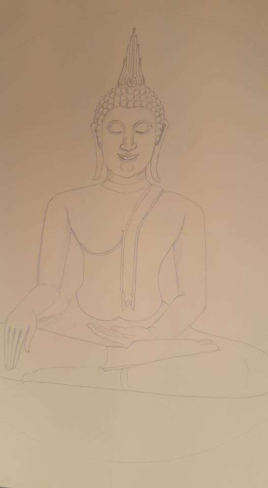 Ben On Twitter Sketch Outline On Canvas For New Buddha Painting Oilpainting Drawing Art Artlover Artlovers Yoga Meditation Yogagirl Yogalife Iloveart Artlover Artlovers Drawing Decor Interiordecor Interiordesign Interiors Design