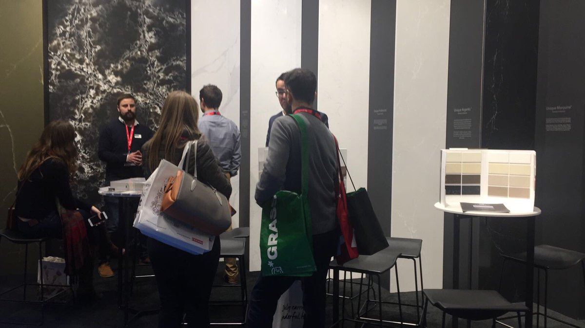 Awesome first day at @kbblive! We would like to see you at our stand H17 Y90 to show you our latest quartz collections!! Come and visit us at #FutureKBB #kbb18