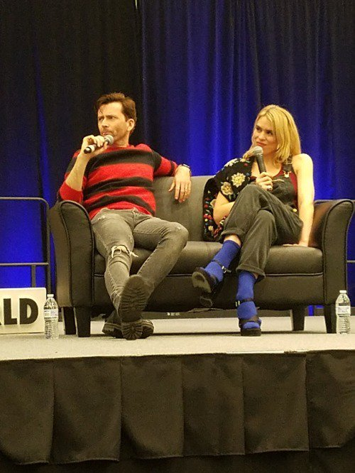 David Tennant and Billie Piper at their panel at Wizard World Cleveland - Sunday 4th March 2018