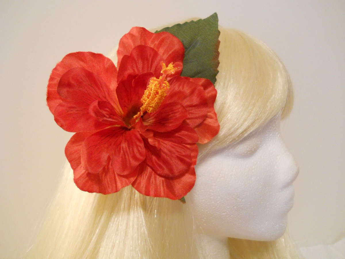 Michele On Twitter Hibiscus Hair Clip Red Large Hibiscus Real