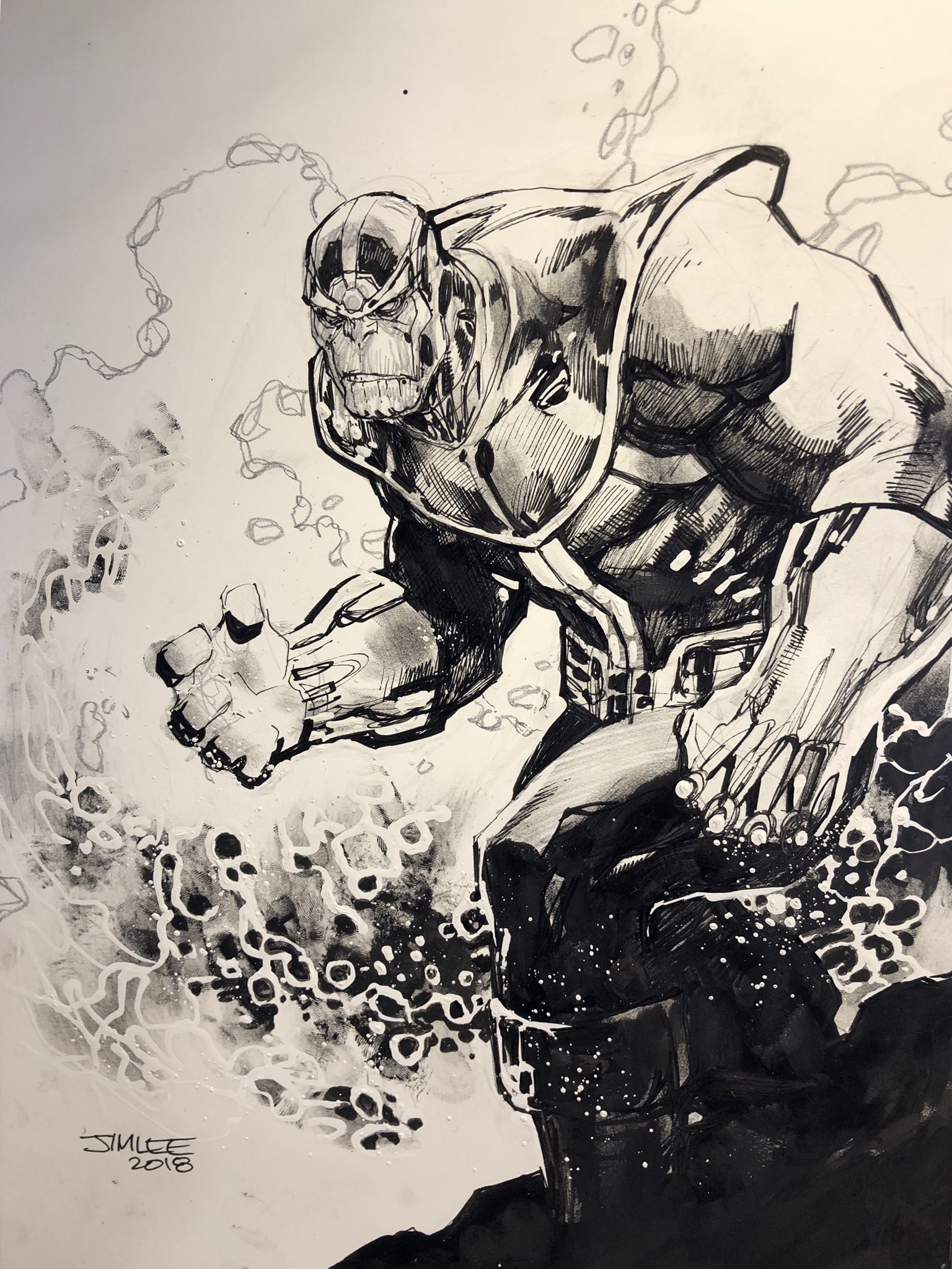 "Jim Lee on Twitter: ""Come draw-a-long with Thanos and me ..."