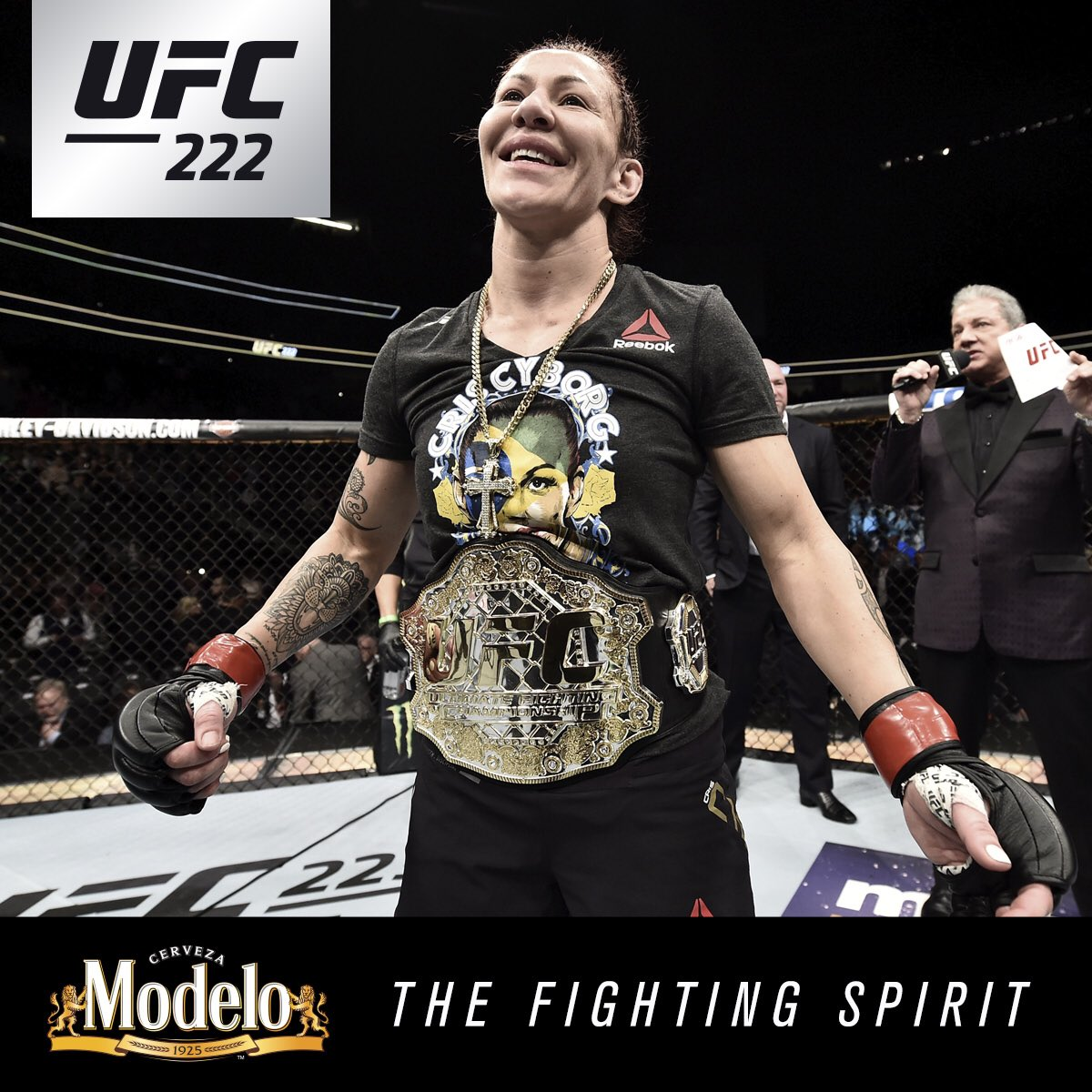History! The #FightingSpirit was on full display at #UFC222 as @CrisCyborg extended her historic unbeaten streak while @BrianTCity did the unthinkable! @ModeloUSA
