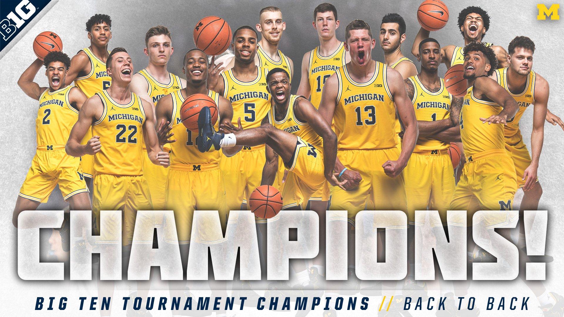 Michigan Men S Basketball Big Ten Tournament Winner Baaz