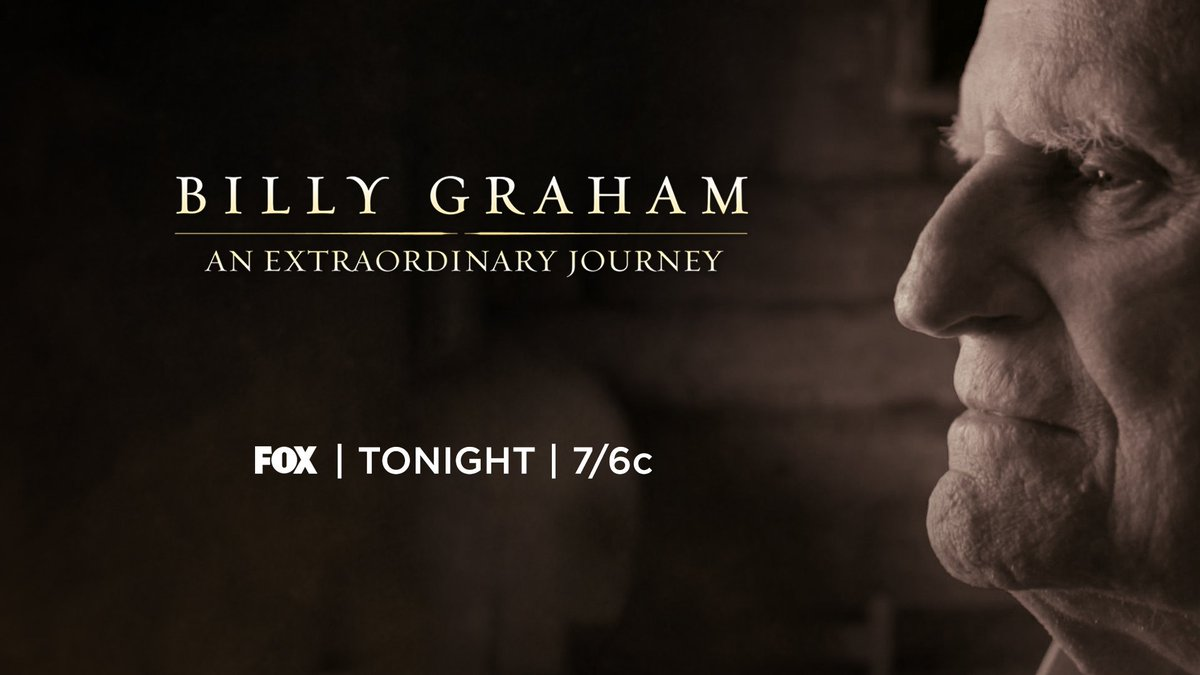 Remember, tonight's @BillyGraham special is only 60 minutes. Watch the premiere at 7 p.m. ET on @FOXTV.