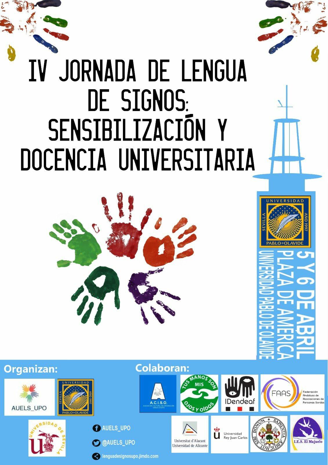 IV Jornadas de lengua de signos: docencia universitaria y sensibilización - Sevilla 5 y 6 de abril 2018 DXeYg1TW0AARdPQ